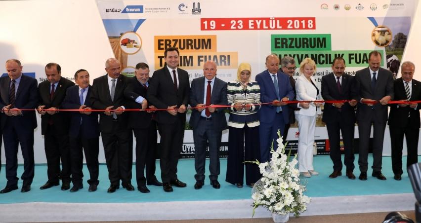 Tarım ve Hayvancılık Fuarı Erzurum'da açıldı