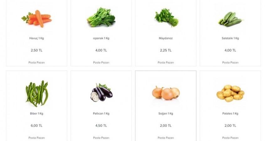 PTT, internetten ucuz sebze satışına başlıyor