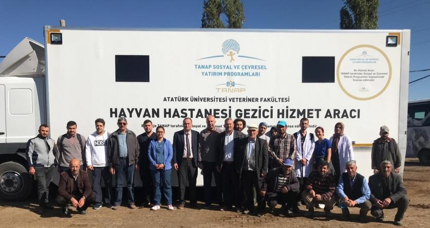 Mobil Hayvan Hastanesi faaliyette