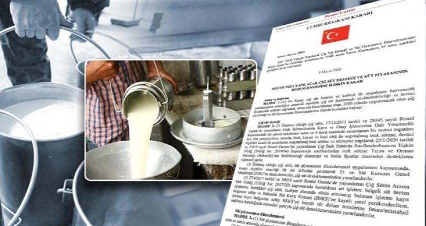 Süt üreticilerine bu yıl yapılacak çiğ süt desteğine ilişkin esaslar belirlendi
