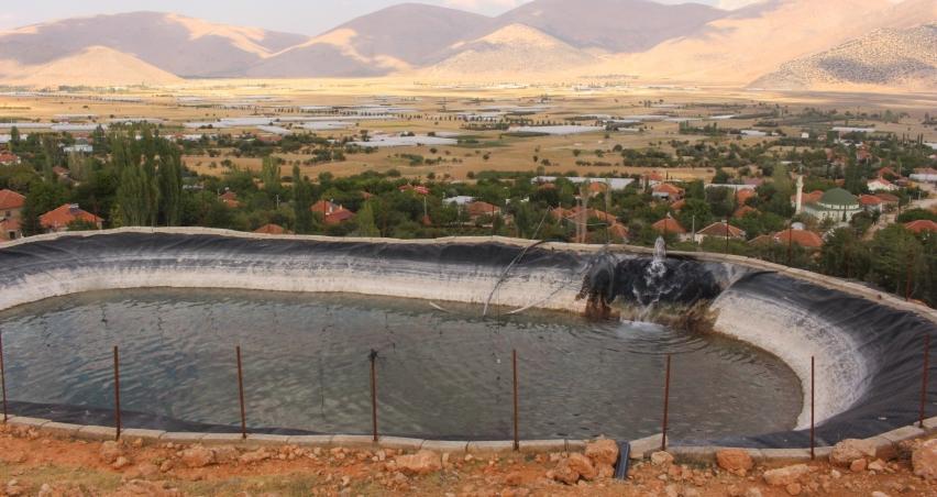 Kapalı devre sulama sistemleri ile tarıma can verildi