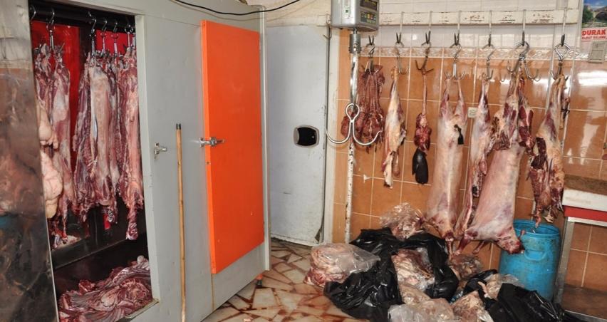 Bin 600 kilo et imha edildi